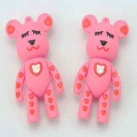 Free Shipping Full Capacity Promotional Pink Bear USB Flash Drive USB Gift  Pen Drive Stick Flash Memory  Disk 4G,8G,16G,32GB
