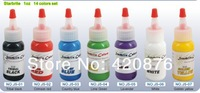 Hot tattoo ink 14 colors 1oz high quality free shipping