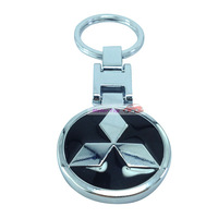 black Pendant Keychain Key Chain Ring For  OUTLANDER PAJERO SPORT PAJERO OUTLANDER EX Free Shipping High Quality