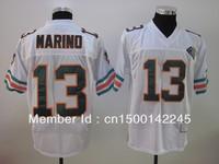 Miami #13 Dan Marino Jersey Throwback White Team Color Football Jerseys