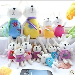 Plush toy meters rabbit fur velvet doll dolls rabbit pendant with suction cup wedding gift(China (Mainland))