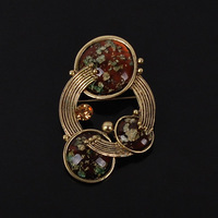 Buckle brooch fashion accessories gem fashion jewelry fashion vintage resin craft gift decoration