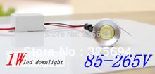 10pcs/Lot 1W Mini LED Star light, led cabinet light, mini led downlight 85-265v CE ROHS ceiling lamp free shipping(China (Mainland))