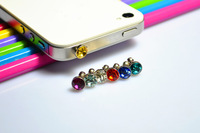 free shipping! anti dust jack plug sexy earphone jack plug cap with a crown