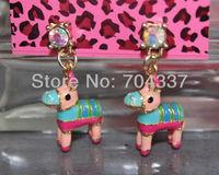 Minimum order request $9.99 (U can mix order) romantic cute pony horse earrings J07