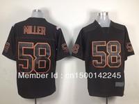 Free shipping -2013 american football jersey #58 Von miller black Elite jerseys,size 40,44,48,52,56,mix order