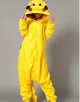 Free Shipping Cosplay Sekiya Pikachu Costumes Velvet Yellow Pajamas Dresses In Stock S M L XL Halloween Party Carnival Costume