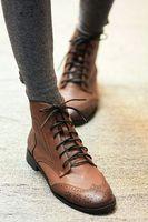Fashion vintage lacing print cool boots