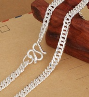 S990 Pure Silver Necklace For Men Children Boys Silver Chains 100% Guaranteed Genuine Silver Europe & USA Popular Style