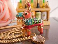 Minimum order request $9.99 bets8y  (U can mix order) johns0n romantic leopard grain heart Neckalce J08