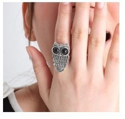 girls rings anti-fatigue prosper jewelry wholesale 2013 new Hot cute owl retro ring JZ-013(China (Mainland))