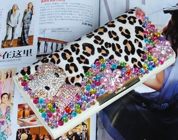 Wholesale&retail~Zero profit~Women Wallet Calfskin+horsehair Inlaid rhinestone Designer clutch kitty evening bag 8017