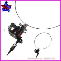 1pc free shipping mini Tattoo Machine Pendant black  Lucky Seven Machine Necklace Lucky 7 Tattoo Machine Pendant Necklace