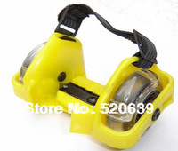 Free shipping PVC wheel flash roller / 3 lights flashing rollers wholesale flashing roller with CE, SGS approval