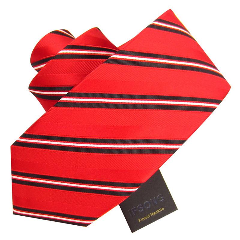 Ifsong 8cm classic stripe male formal tie 392