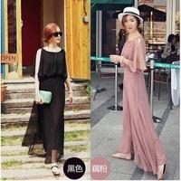 2013 New Chiffon Bohemian Sleeveless Slim Women Maxi Dress Long Beach Dress Large Size Black Pink