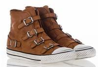 Ash Virgin Sneakers Camel Wax Nappa Leather