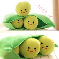 Hot Fashion New Stuffed Smile Pea Pod Pillow Cushion Toy Dolls Taeyeon Pea doll 50cm Home car  Decoration Quality Free shipping