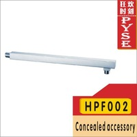 "Free shipping HPF002 stainless steel chrome shower arm 4"" 400mm wall fixed square concealed Pipe"