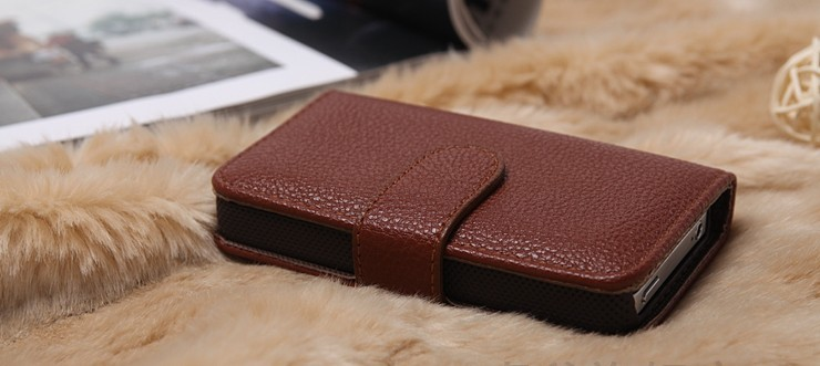 High grade PU leather cell phone case for iphone 4 4s