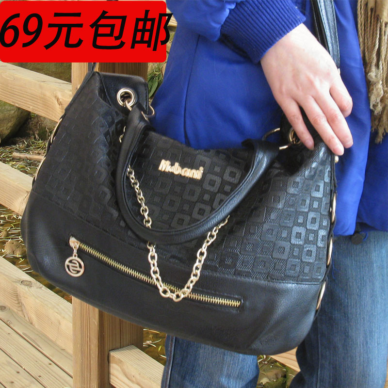 Promotion Spring women's handbag women's bags square check messenger bag fashion elegant women's free shipping(China (Mainland))