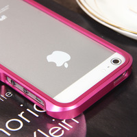 Luxury All Metal Aluminum Matte Bumper Hard Case Cover for iPhone 5&Film Rose