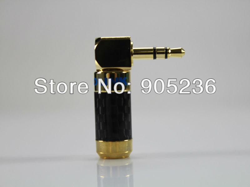 ACROLINK FP-6.3-2L 6.5mm Golden Plated Mono Male 90 degrees Adapter diameter for diy HiFi Headphone Plug