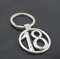 Quality digital with diamond metal keychain key ring logo
