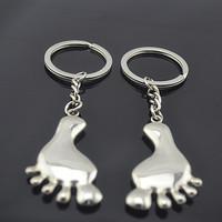 Feet keychain key ring gift keychain logo