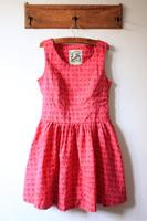 Pink cute skull punk big skirt slim waist tank dress one-piece dress