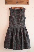 Fashion HARAJUKU christmas deer big skirt slim waist tank dress one-piece dress