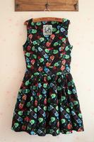 Fashion HARAJUKU skateboard big skirt slim waist tank dress one-piece dress