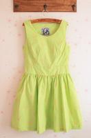 Fashion HARAJUKU big skirt slim waist tank dress one-piece dress spring