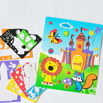 Free Shipping 2013 New Multicolor Eva Children Stickers 3D Puzzles Stereo Diy Puzzle Toys Baby Educational Toys Fancy Toys Gift