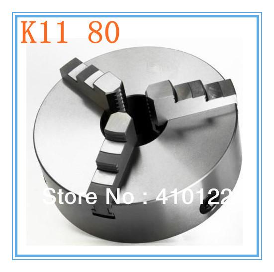 K11 80 drei-backen-futter für- spannfutter zylinder Zentrum halterung für drehbank zubehör