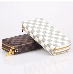 Free Shipping Retail 2013 New Arrival Fashion Cheap Two Zipper Brand Women PU Leather Purse Female Long Wallet Lady Purse(China (Mainland))