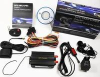 FREE SHIPPING   GPS TRACKER FOR VEHICLE TK103B  GPS Tracker TK103B Remote Control+Shake Sensor+Siren