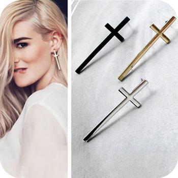 Wholesale Oe0181 fashion accessories vintage elegant cross stud earring lovers stud earring 4g