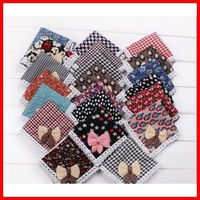 Free Shipping (60pcs/lot)  Wholesale   Lovely Bowknot  Infant Saliva Towels  Waterproof  Bib Baby Wear Baby Scarf Bibs