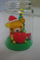 free shipping Love bear handmade diy clay finished product gift birthday present