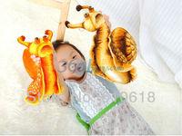 Free Shipping 2Pcs/Lot High Simulation Snail Plush Toys Doll Cushion Pillow Creative Children Birthday Gift Car Home Decor