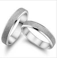 GS brand JZ-17 2014 fine jewelry free shipping bestselling lovers`couple rings/silver wedding rings 1pair/lot