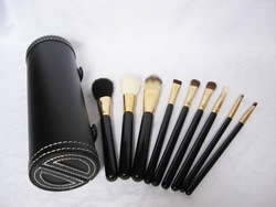 9pcs makeup brushes set with black tube ,Professional Cosmetic Makeup Brush Make Up Tool With black box(China (Mainland))