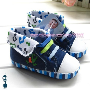New fashion baby cartoon canvas shoes first walkers shoes toddler antiskid shoes infant booties prewalker high quality x02