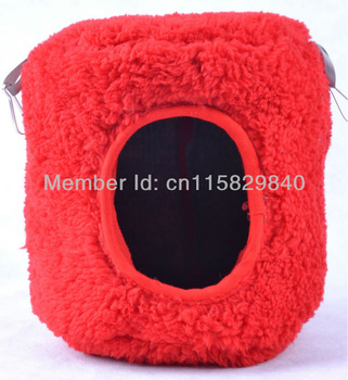 Red Hammocks Bed Tree House Attach Cage for Parrot Bird Rat Hamster Ferrets Mouse Squirrel Toy 15cmx15cm