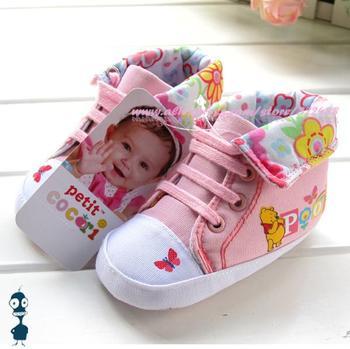Baby girls pink cartoon pig princess shoes pre-walkers cute infant footwear booties brand shoes first walkers 3pairs/lot x03