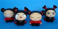 NEW 4pcs Korea doll Pucca and Garu figure Piggy Bank