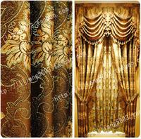 Quality fashion jacquard gold thread ktv living room curtain cloth full