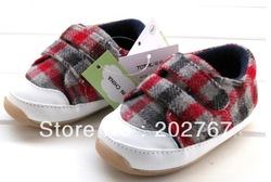 Free shipping Wholesale TOTAL 1-3 years red vein stone baby to toddler shoes, thickening of single shoes(China (Mainland))