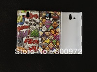 UK USA flag CD Tape Effiel tower skull head camera design IMDHard Case for sony Xperia U ST25I.